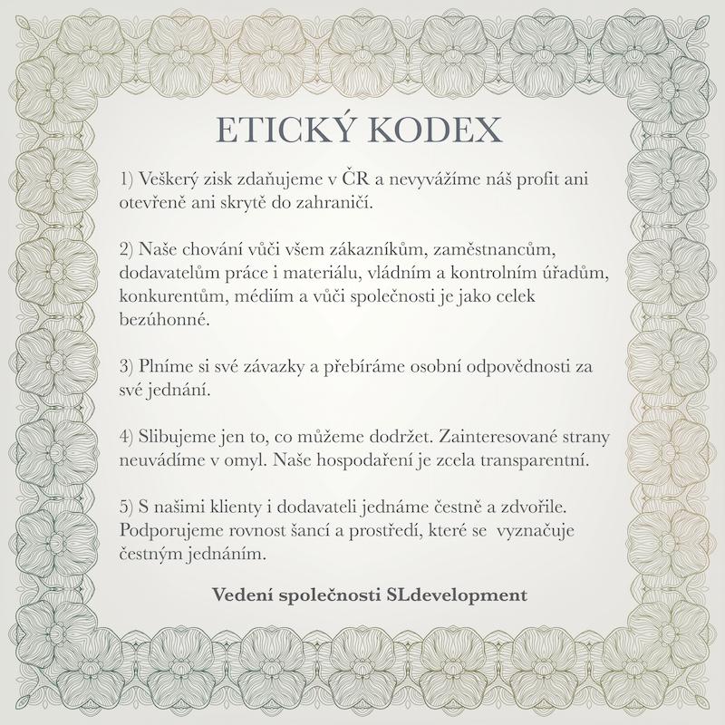 Etický kodex společnosti Student-living Development, s.r.o.